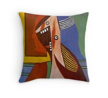 In the style of pablo picasso - 3 Throw Pillow