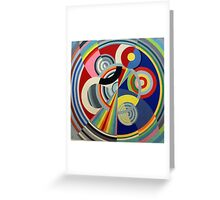 In the style of Robert Delaunay - 1 Greeting Card