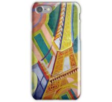 in the style of Robert Delaunay - 2 - Eiffel tower iPhone Case/Skin