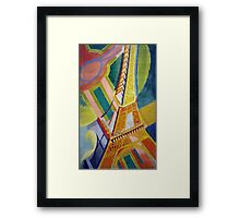 in the style of Robert Delaunay - 2 - Eiffel tower Framed Print