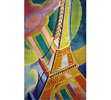 in the style of Robert Delaunay - 2 - Eiffel tower Photographic Print