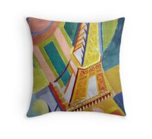 in the style of Robert Delaunay - 2 - Eiffel tower Throw Pillow