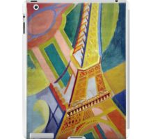in the style of Robert Delaunay - 2 - Eiffel tower iPad Case/Skin