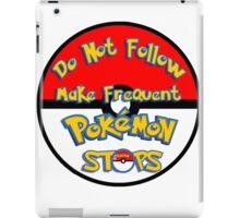 pokemon Ball caution sign  iPad Case/Skin
