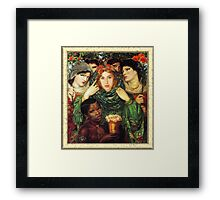 Amy Winehouse as The Beloved by Dante Gabriel Rossetti Framed Print