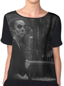 Death Wears Black Chiffon Top
