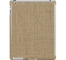 Natural Woven Beige Burlap Sack Cloth iPad Case/Skin