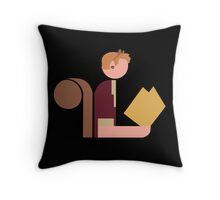 Squirrel Lady Reads Throw Pillow