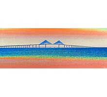 Sunshine Skyway morning Photographic Print