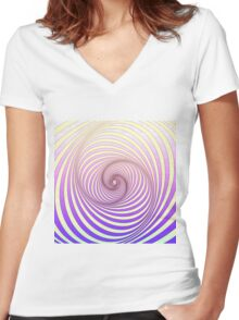 Spiral - Op art Women's Fitted V-Neck T-Shirt
