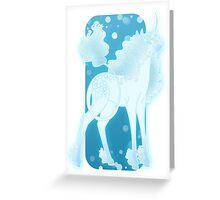 Aqua Unicorn Greeting Card