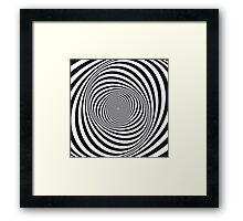 Spiral - Op Art - Optical Illusion Framed Print