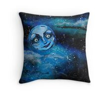 Insomniac Moon Throw Pillow