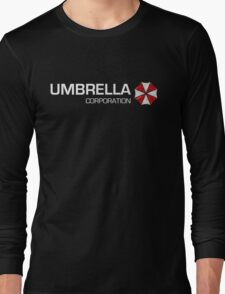 Umbrella Corps - White text Long Sleeve T-Shirt