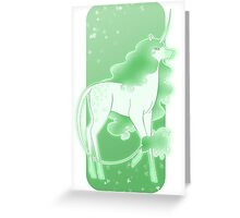 Mint Unicorn Greeting Card