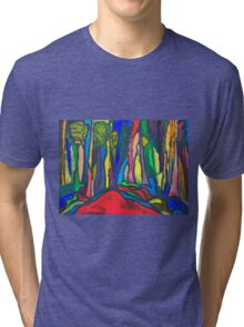 Abstract Forest Tri-blend T-Shirt