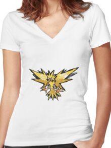 Zapdos! Women's Fitted V-Neck T-Shirt