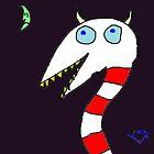 """""""Horned Candy-Cane Snake"""" by Richard F. Yates by richardfyates"""