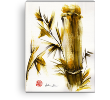 """""""Morning Light"""" Original acrylic and ink bamboo painting. Canvas Print"""