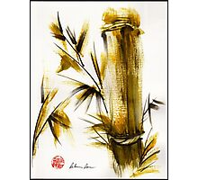 """Morning Light"" Original acrylic and ink bamboo painting. Photographic Print"