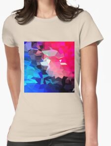 Modern,abstract,color,beautiful,cool,fun,polygamy,design Womens Fitted T-Shirt