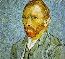 'Self Portrait' by Vincent Van Gogh (Reproduction) by Roz Abellera Art Gallery