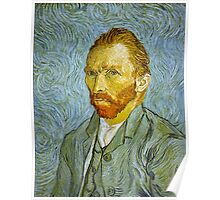 'Self Portrait' by Vincent Van Gogh (Reproduction) Poster