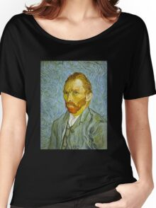 'Self Portrait' by Vincent Van Gogh (Reproduction) Women's Relaxed Fit T-Shirt