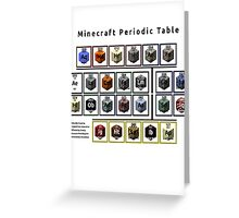 Periodic Table of Minecraft Greeting Card