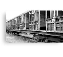dilapidated carriage Canvas Print