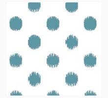 Teal,big,polka dots,pattern,trendy,modern,girly,cute,fun Kids Tee