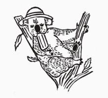 Don't Worry, Be Koala One Piece - Long Sleeve
