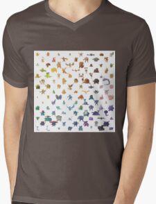 Pokemon,Color Mens V-Neck T-Shirt