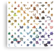 Pokemon,Color Canvas Print