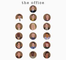 The Office Minimalist Cast Kids Tee