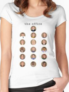 The Office Minimalist Cast Women's Fitted Scoop T-Shirt