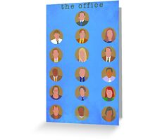 The Office Minimalist Cast Greeting Card