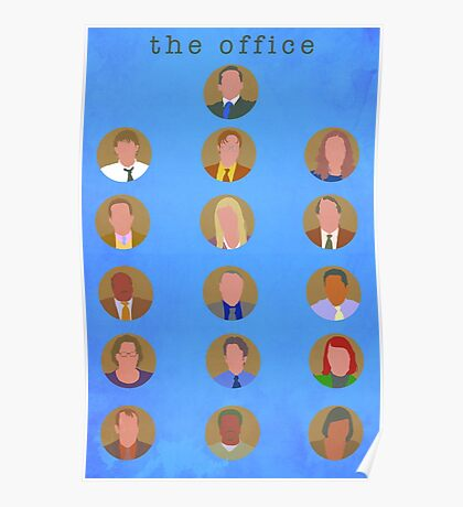The Office Minimalist Cast Poster