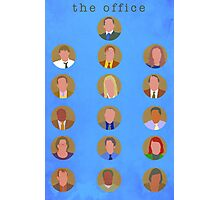 The Office Minimalist Cast Photographic Print