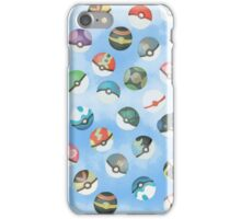 Pokeball Variants Scatter Pattern iPhone Case/Skin