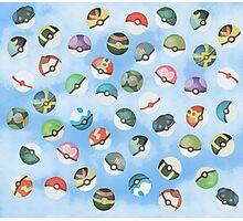 Pokeball Variants Scatter Pattern Photographic Print