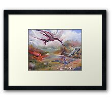 Dragon Dinnertime Framed Print