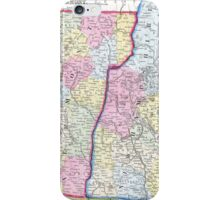 Vintage Map of New Hampshire and Vermont (1862) iPhone Case/Skin