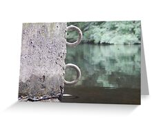 Metal Rings On The Water Greeting Card