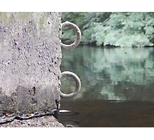 Metal Rings On The Water Photographic Print