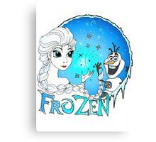 Elsa and Olaf Canvas Print
