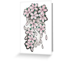 """""""Blossoms"""" Pink Greeting Card"""