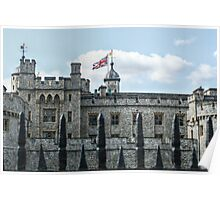 The Union Jack over the Tower of London Poster