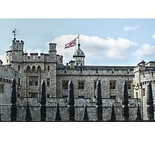 The Union Jack over the Tower of London Photographic Print