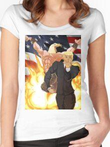 Trump's Bizarre Election - Jojo's Bizarre Adventure Trump Women's Fitted Scoop T-Shirt